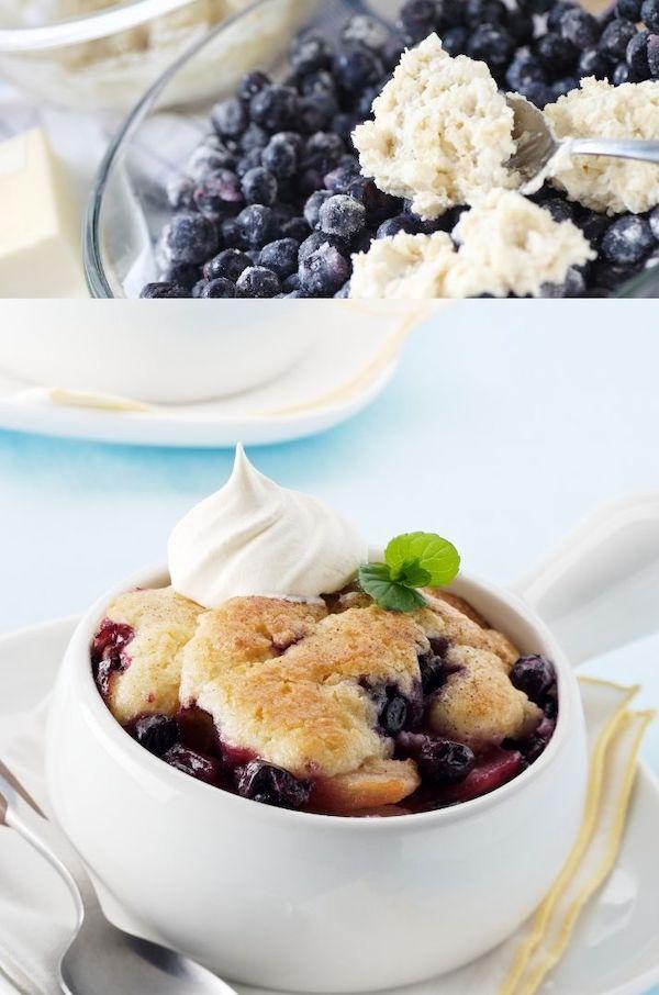 Paula Deen Blueberry Cobbler